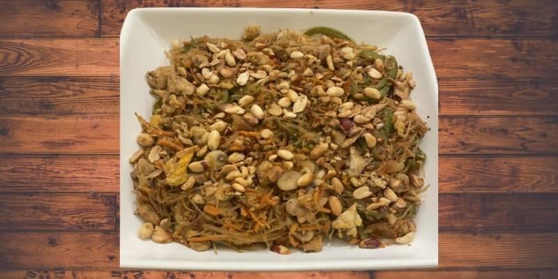 Glass noodle stir-fry (pad woon sen)
